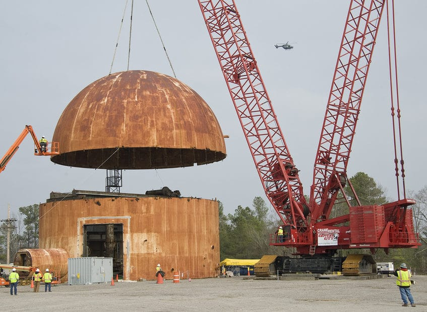 Cold War Reactor Lid Removed - Manitowoc 18000